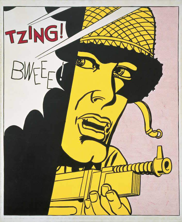 10. Roy Lichtenstein, Live Ammo (Tzing!), 1962; 10. © Estate of Roy Lichtenstein; photo: Ian Reeves