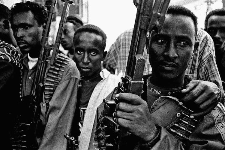 Photo of Somali soldiers © Sebastian Rich