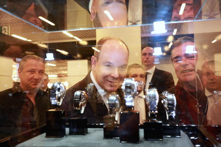 HSH Prince Albert II admires some watches
