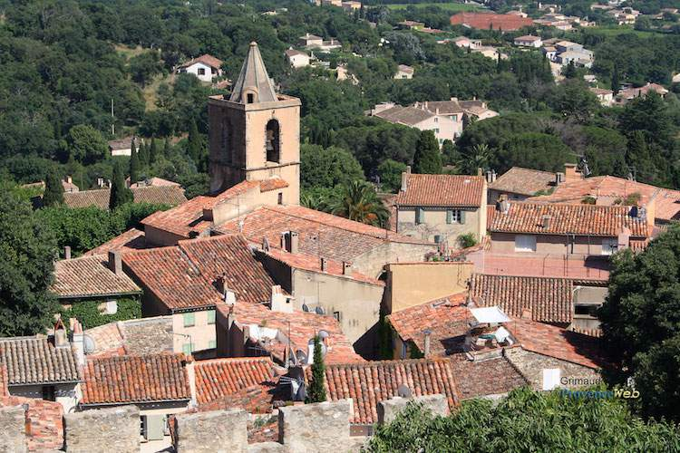 Aerial view of Grimaud