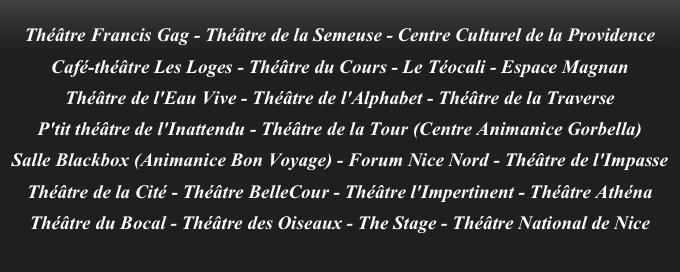 Lever de Rideaux 2015 participating theatres