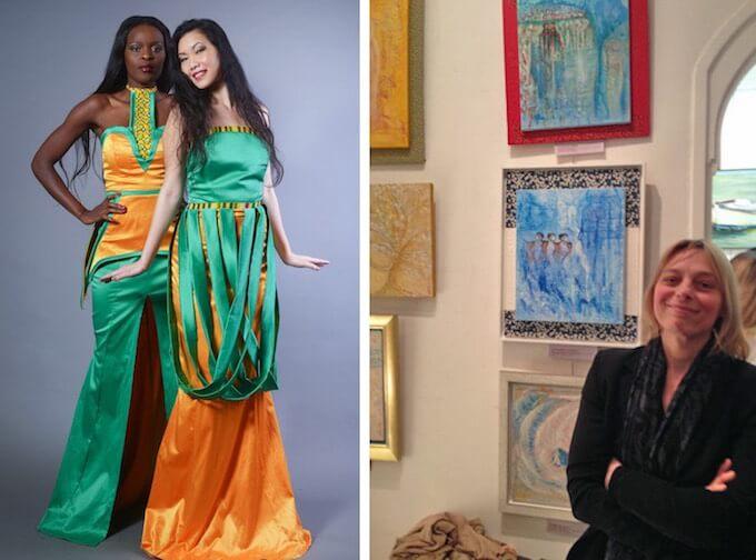Sadio Bee fashions and the artist Satoko