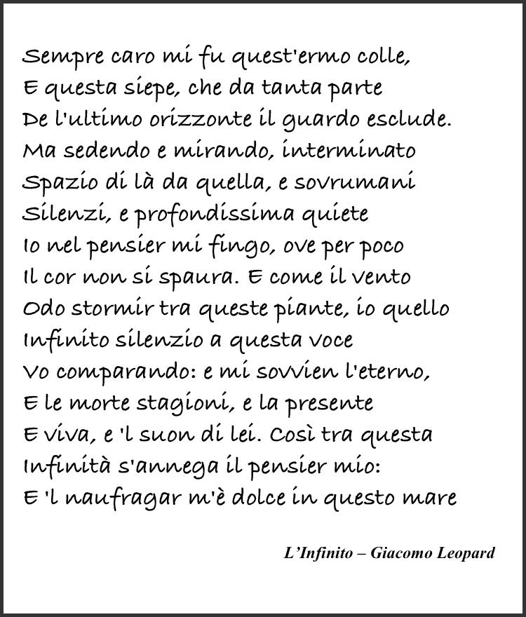 L'Infinito – Giacomo Leopardi