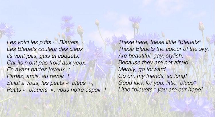 Alphone Bourgoin poem Les Bleuts de France