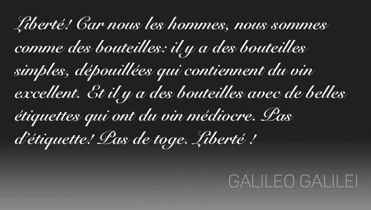 Galilée quote