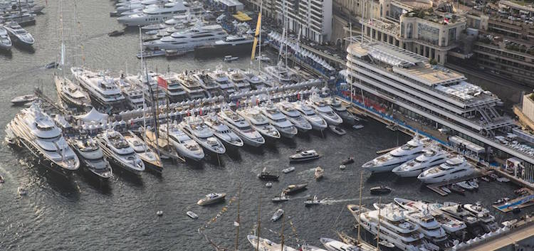 Monaco Yacht Club aerial view