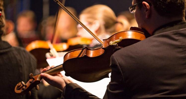 Violin in orchestra
