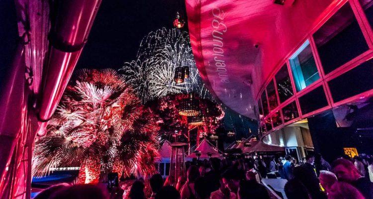 Amber Lounge fireworks