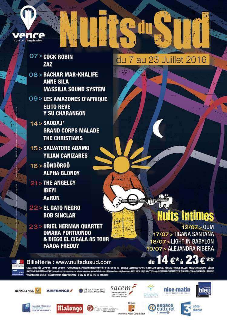Festival Nuits du Sud in Vence poster