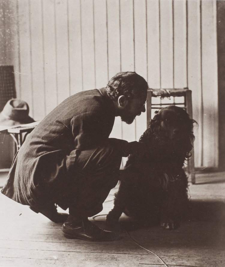 Pierre Bonnard and his dog, Black