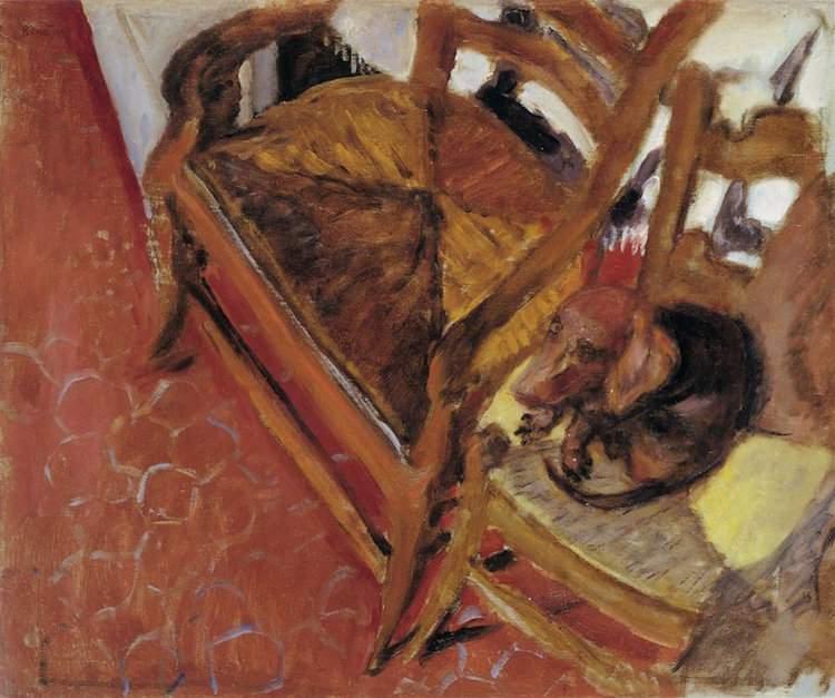 Pierre Bonnard, Le Basset sur la chaise, vers 1921, Collection particulière © Adagp, Paris 2016