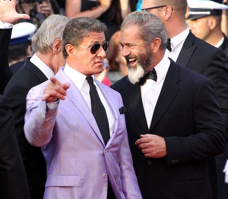 Cannes fait le mur Stallone Gibson © Nice Matin
