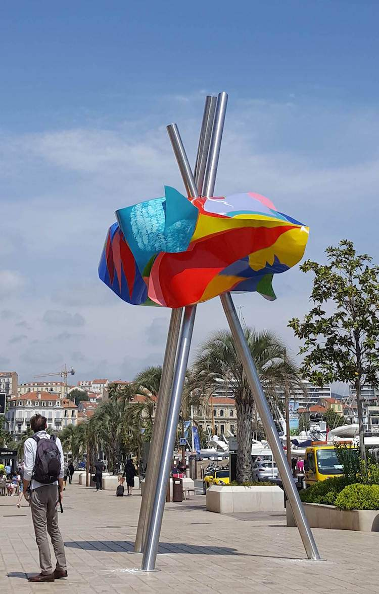 Camilo José Cela sculpture in cannes