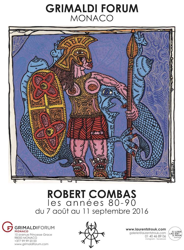 Robert Combas exhibition in Monaco poster
