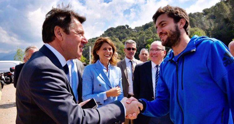 Niçois tennis Christian Estrosi and Gilles Simon
