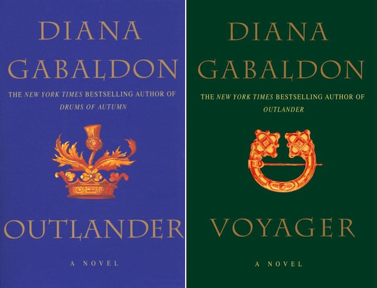 Outlander novel covers courtesy Diana Gabaldon website