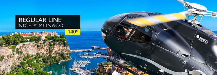 Nice to Monaco by helicopter