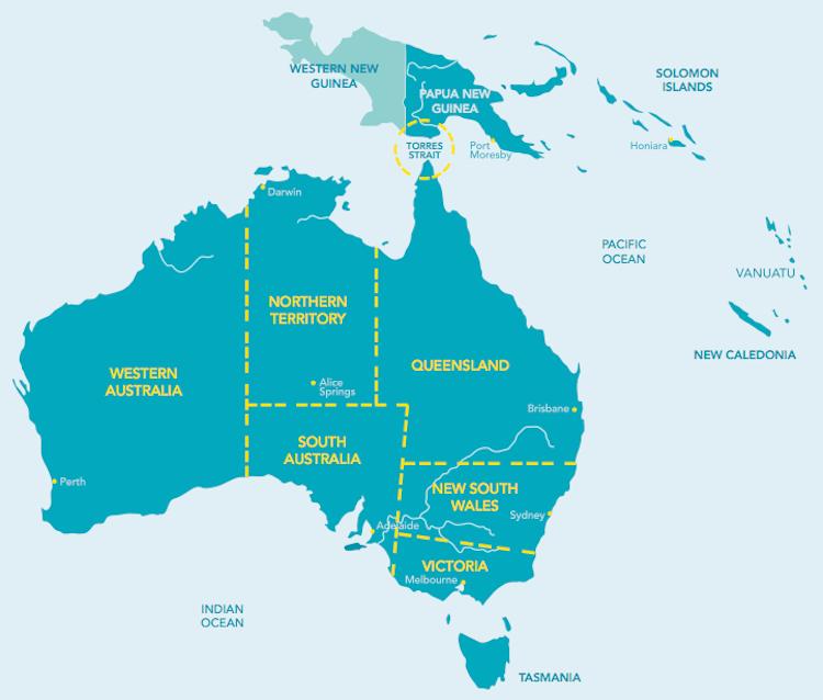 Taba Naba map of Australia