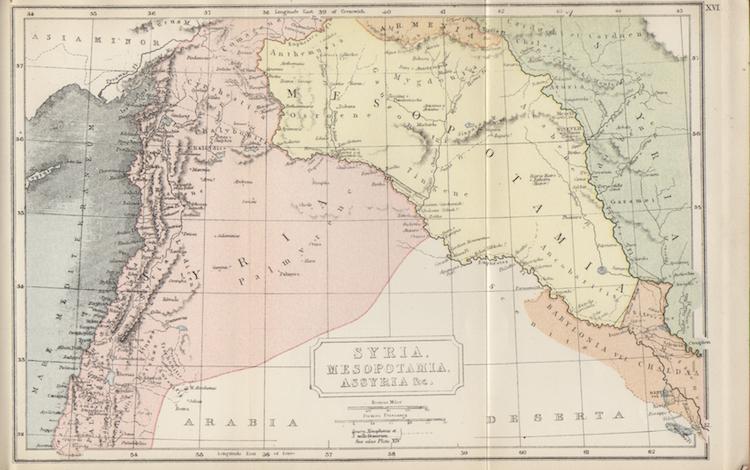 Map of Syria and Mesopotamia