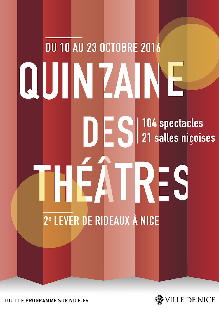 Quinzaine des Théâtres in Nice poster