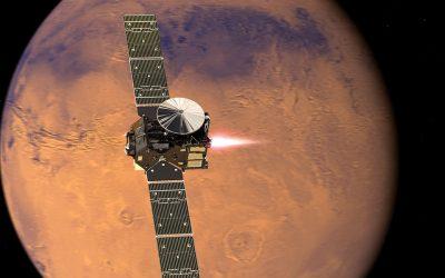 ExoMars approaching Mars courtesy European Space Agency