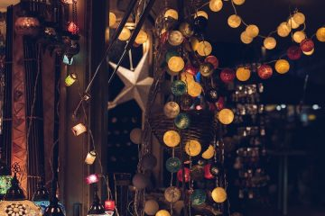 Christmas lights and lamps by Jezz Timms