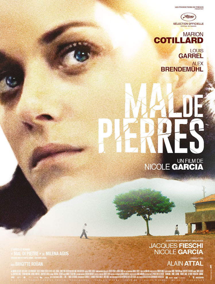Mal de Pierres movie poster with Marion Cotillard
