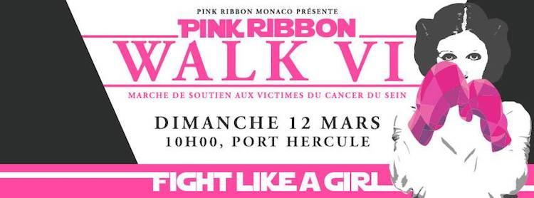 Pink Ribbon Monaco 2017 Walk banner