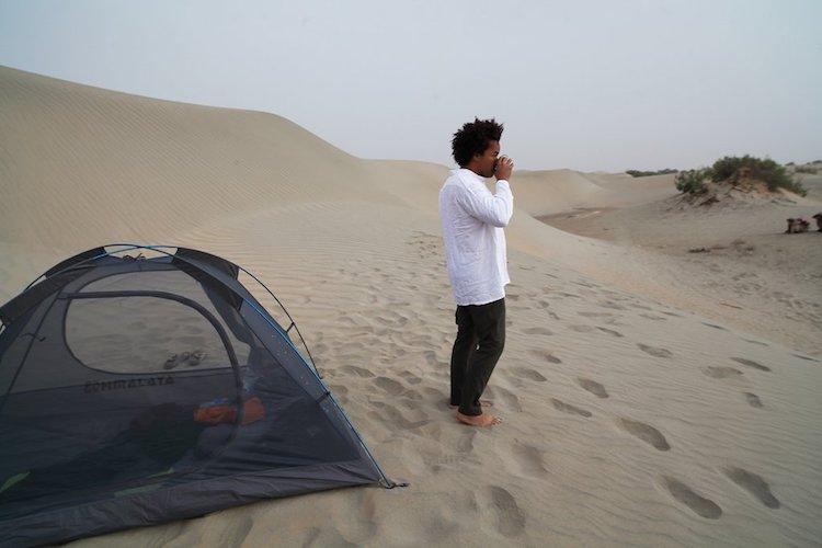 Patrick Robinson camping