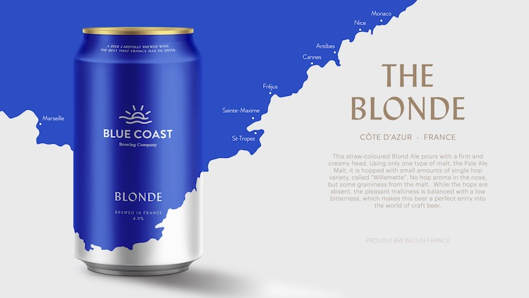 Blue Coast Brewing Company Blonde beer
