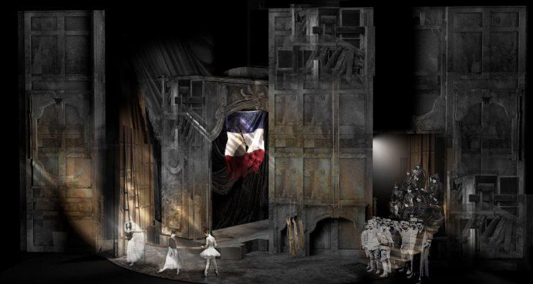 115-Adriana Lecouvreur ©Maquettes décors par Davide Livermore & Gio Forma