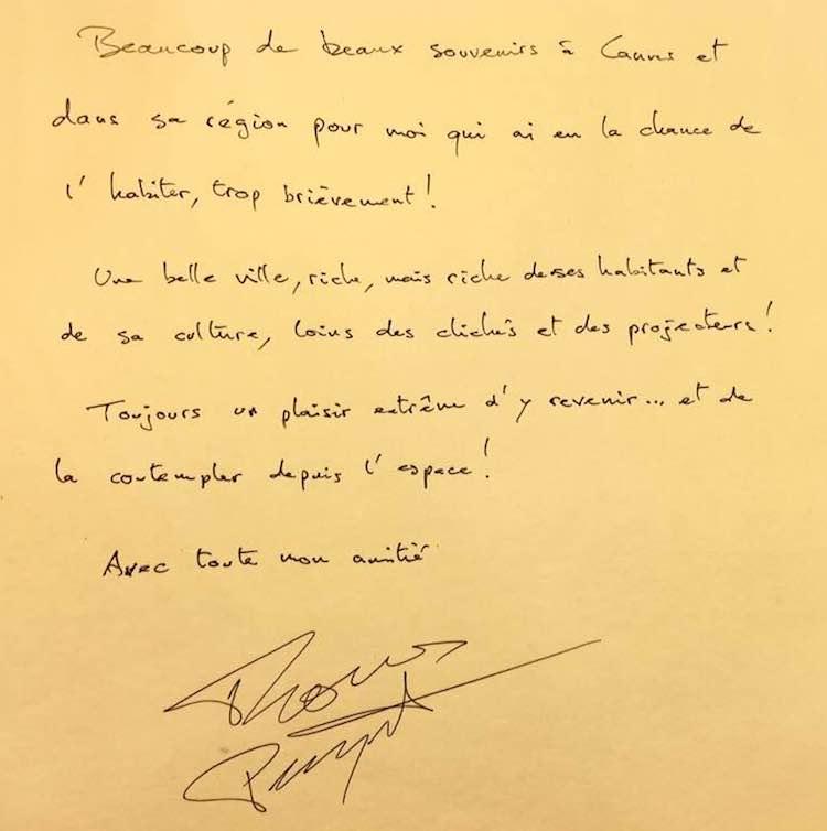 Pesquet Golden Book Cannes