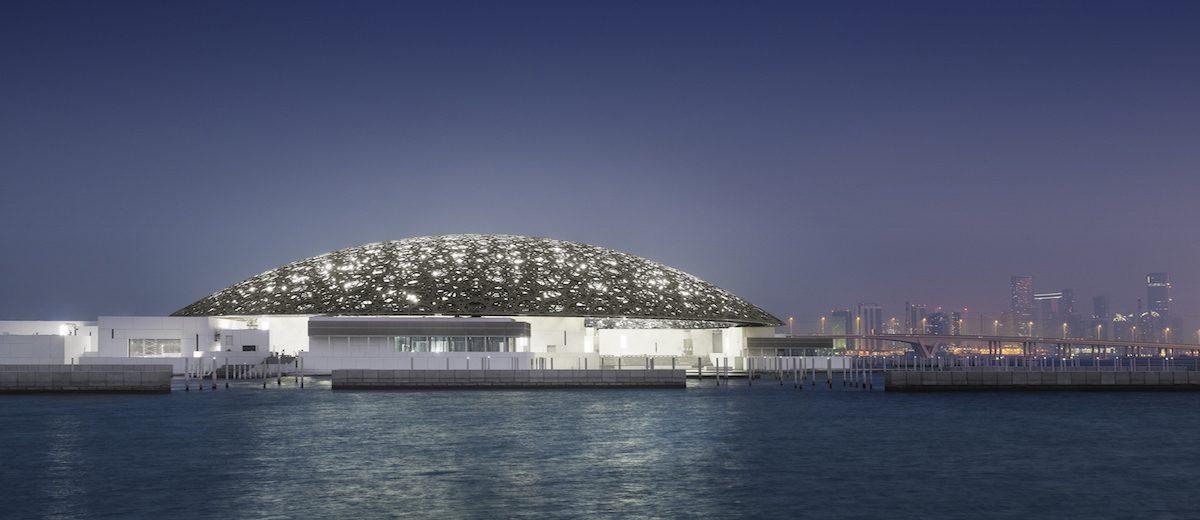 Louvre Abu Dhabi by night