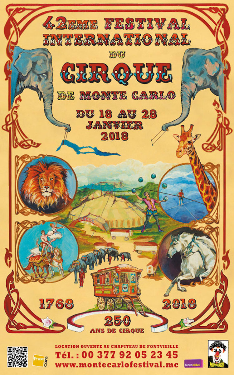 Monte-Carlo International Circus Festival 2018 poster