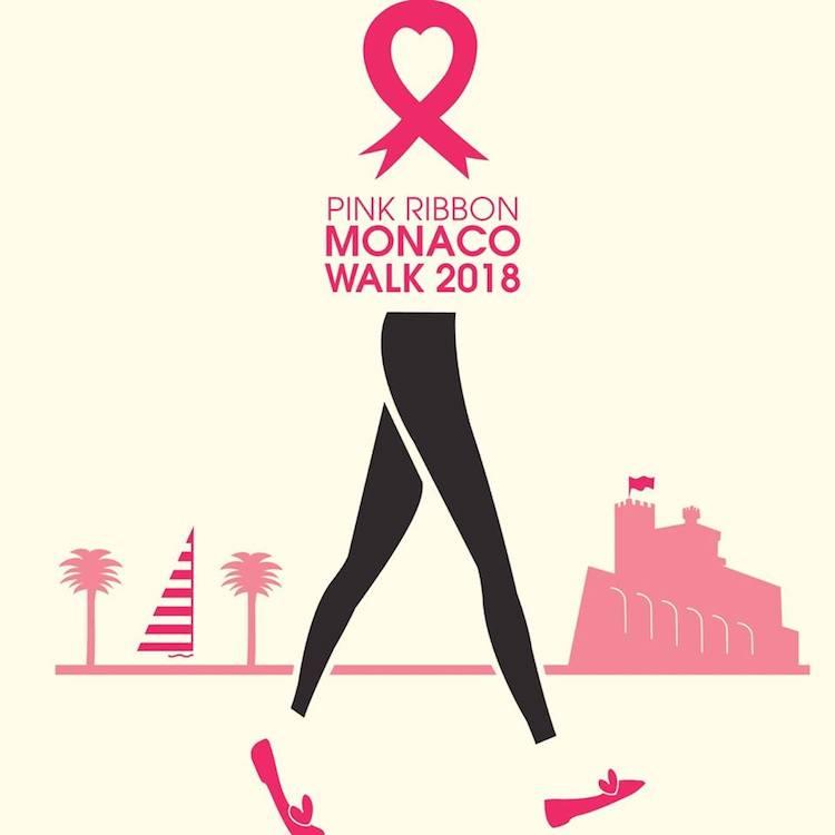Pink Ribbon Walk Monaco 2018 poster