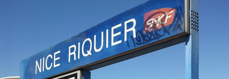 Nice Riquier SNCF sign