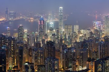 Hong Kong skyline by DAVID ILIFF